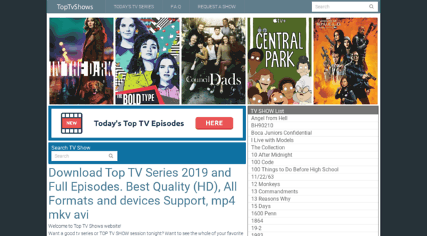 toptvshows me DOWNLOAD Top TV Shows, TV Series & Full Episodes Free