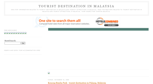 describe a popular tourist destination in malaysia Here are the top 10 tourist attractions in peninsular malaysia that you can include in your travel itinerary and enjoy exploring during your vacation in malaysia.