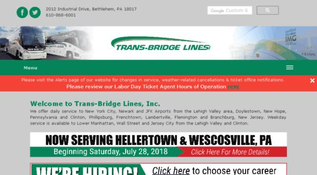 Trans Bridge Tours Schedule