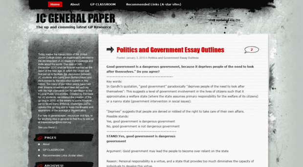 general paper the best government General paper guide for a level students 4,673 essay ideas, and many other useful articles to gce a level students of general paper gp all the best for your.