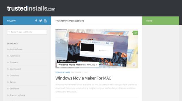 trustedinstalls com - Trusted Installs Website – Free Software Downloads