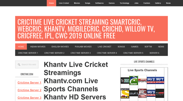 tvcric site Tvcric com – Crictime Live Cricket Streaming