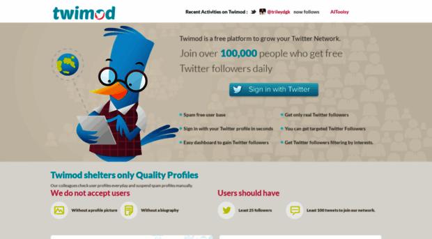 twimod com Twimod - Grow Your Social Network | Free Twitter