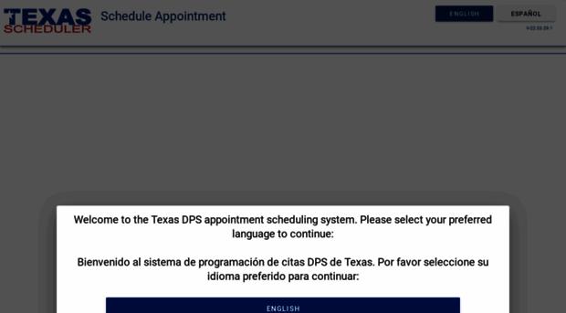 txdpsscheduler com - Welcome Texas Drive Test Scheduling