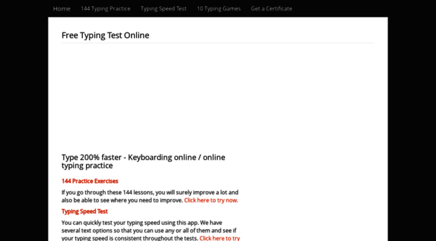 typingtestnow com - Typing test - Online typing te