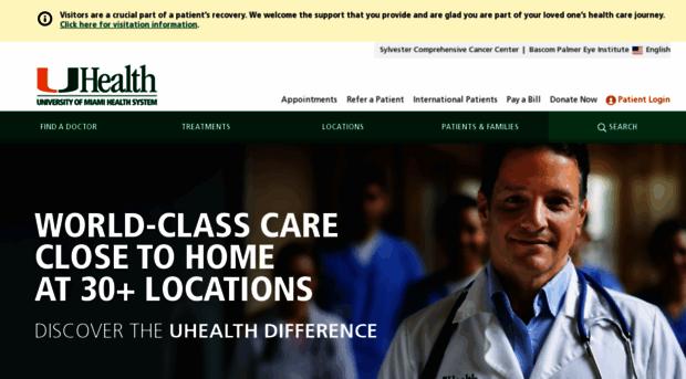 umiamihealth org - University of Miami Health System | South