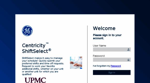 upmc apihc com - Centricity™ ShiftSelect®