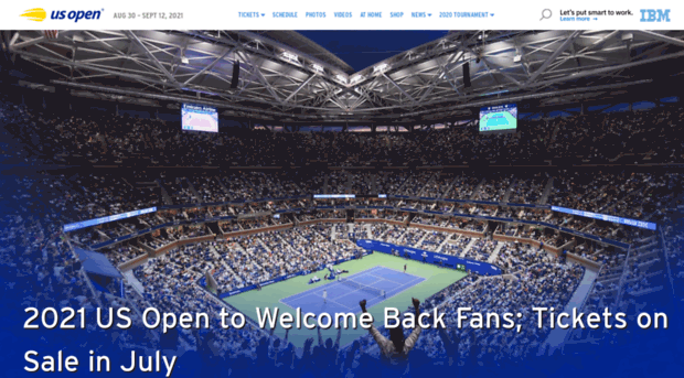 us open home page