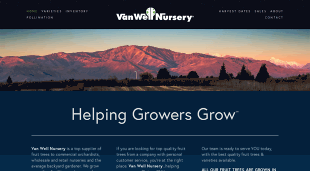 Fruit Tree Nursery Van Well Trees East Wenatchee Washington