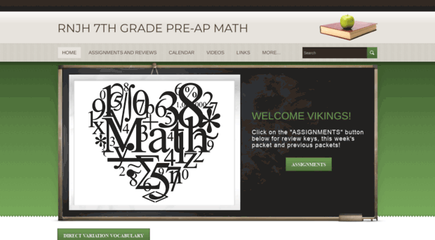 Vikingmath7papweeblycom Rnjh 7th Grade Pre Ap Math H