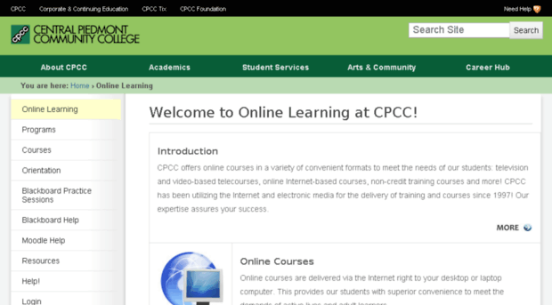cpcc blackboard coursework
