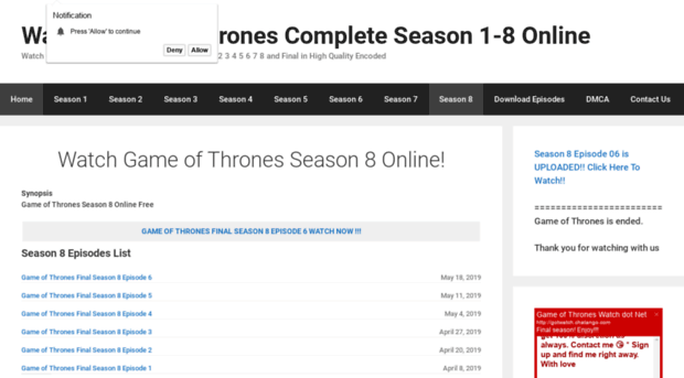 game of thrones season 1 online watch free