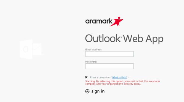 outlook webmail aramark