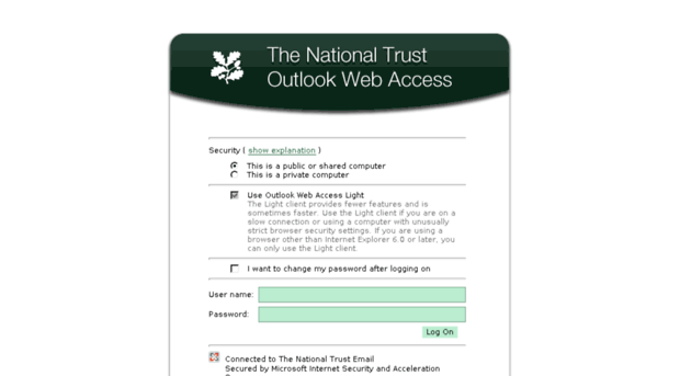 Microsoft Exchange Outlook Web Access