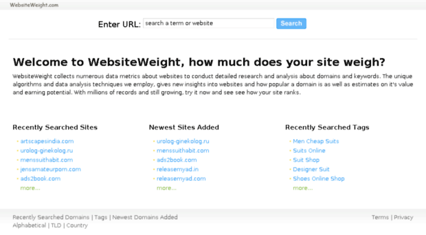 an analysis of the information in website