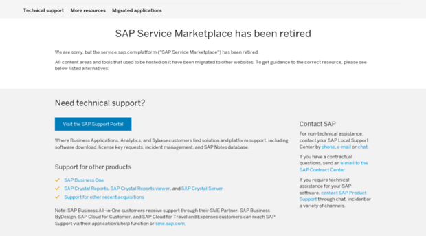 service marketplace sap