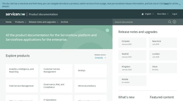wiki servicenow com - Product Documentation | Servic