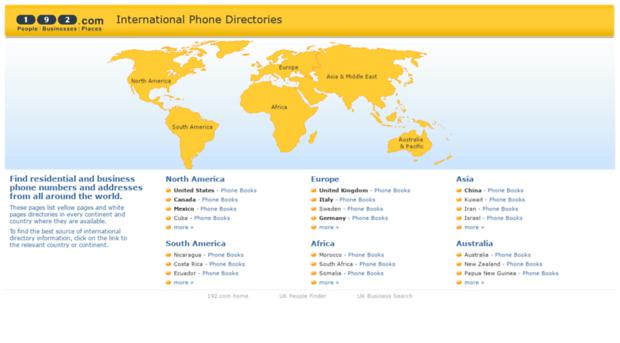 world 192 com - International Phone Numbers -     - World 192