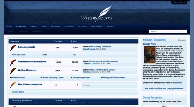 Creative writing forums
