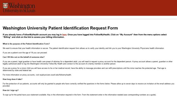 wupatientportal wustl edu - Washington University Patient