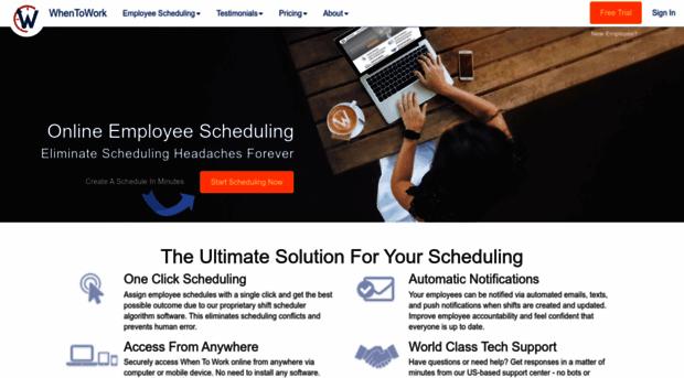 www7 whentowork com - Employee Scheduling Software