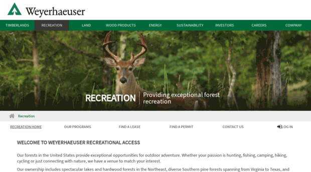 wyrecreation com - Weyerhaeuser Premier Outdoor Recreational Access
