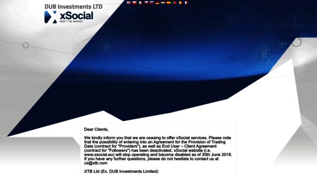 Xsocial login