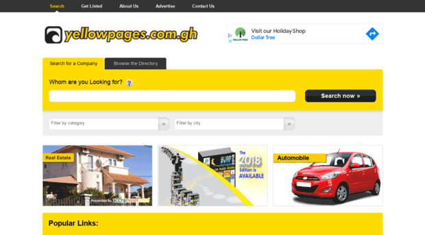 yellowpages com gh - Ghana business and telephone d