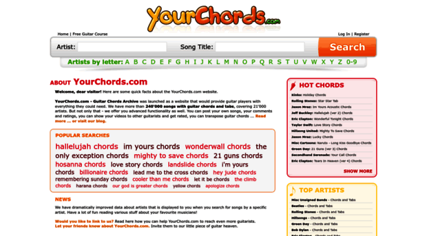 yourchords.com - Your Chords - Guitar Chords Ar... - Your Chords