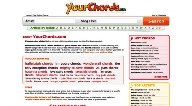 Yourchords Your Chords Guitar Chords Ar Your Chords