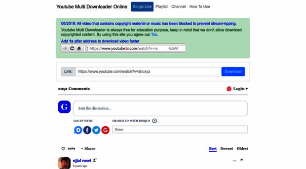 youtubemultidownloader com - Youtube Multi Downloader Onlin