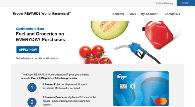 7rewardscard.com - Kroger REWARDS World Mastercar - 7
