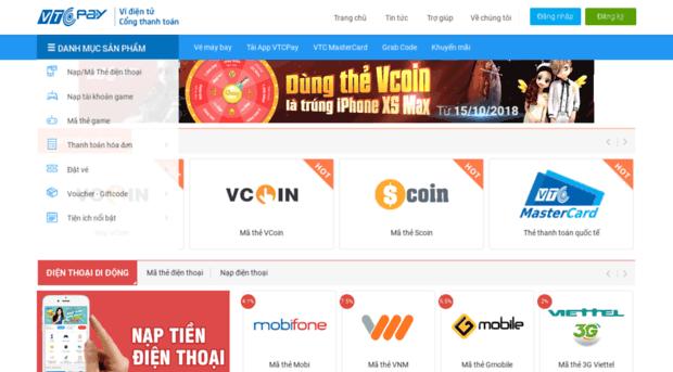 Nạp tiền điện thoại-Thẻ game online-Thanh toán hóa đơn gia đình | VTC3.