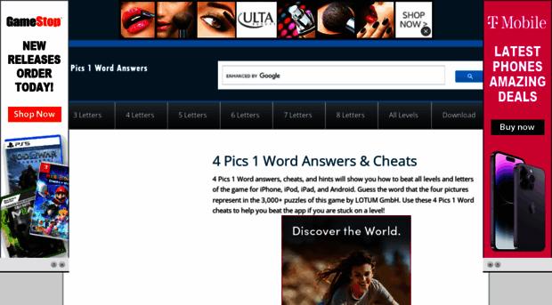 4pics1word-answers.com - 4 Pics 1 Word Answers & Cheats... - 4 Pics 1 Word  Answers