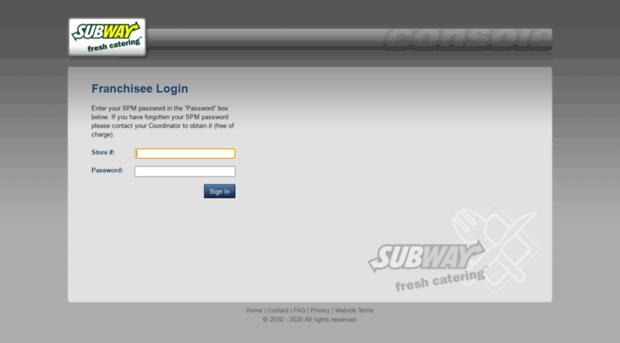 admin subwaycatering com
