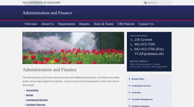 adminfinance.olemiss.edu