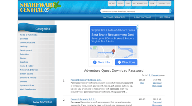 adventure-quest-download-password.sharewarecentral.com