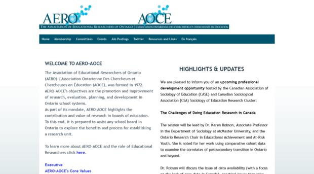 aero-aoce.org - AERO-AOCE - Home - AERO AOCE