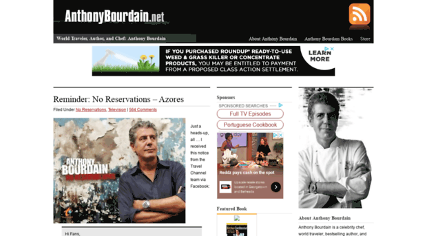 Reminder No Reservations Azores Anthony Bourdain - 620×343