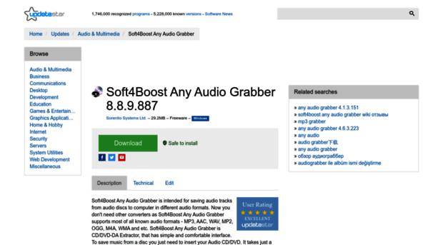 any-audio-grabber.updatestar.com
