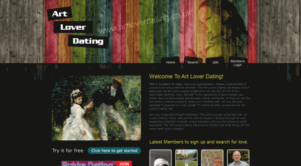 art lovers dating site Art artfinder is a dating site to help you fall in love with art by oliver smith 4 january 2017 summary finding that perfect match finding that perfect work of art to hang on your wall is remarkably similar to finding love, says jonas almgren the ceo of art marketplace artfinder.