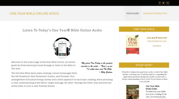 Audio Oneyearbibleonline Com One Year Bible Online Audio Audio One Year Bible Online