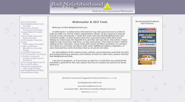 bad-neighborhood.com
