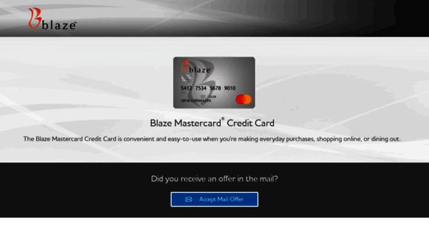 Blaze credit card pay bill