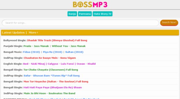bossmp3.info - BossMp3.Info - Latest Free Mp3... - Boss Mp3