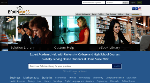 Expert Academic Help with University, College and High School Courses