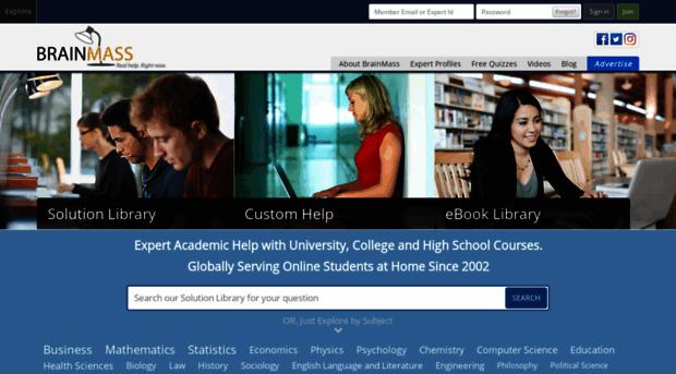 Help Essay: Brainmass Homework Help offers high-quality custom-writing services