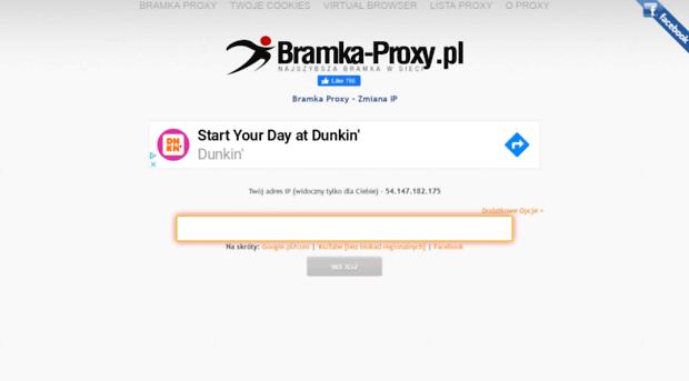Zupełnie darmowe proxy - bezpłatna bramka proxy