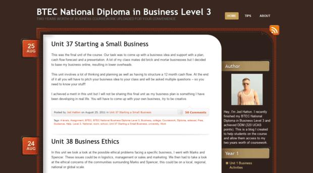 btec national business level 3 unit 15 Btec - level 3 retail   btec level 2 -  business  course specification unit 1   unit 3 - promoting a brand.
