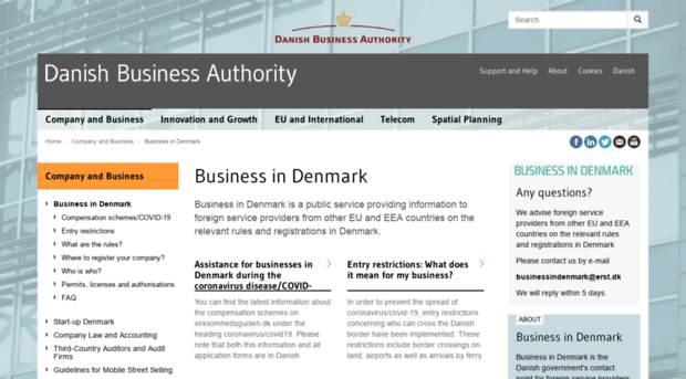 The Danish Transport Construction and Housing Authority is an authority under the Ministry of Transport Building and Housing with responsibility and tasks across